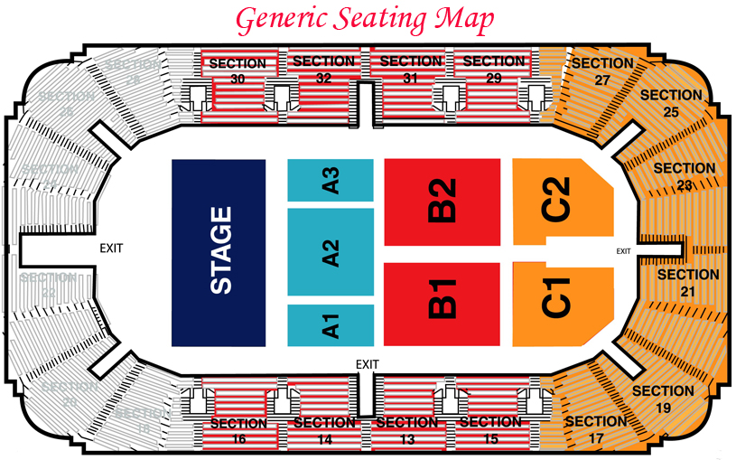 General Seating for Hobart Arena in Troy, Ohio